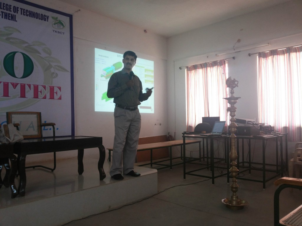 GUEST LECTURE ON WHAT THE INDUSTRY NEEDS FROM THE YOUNG ENGINEERS BY Dr. G. BALAKRISHNAN, MANAGER-ENGG, CATER PILLAR