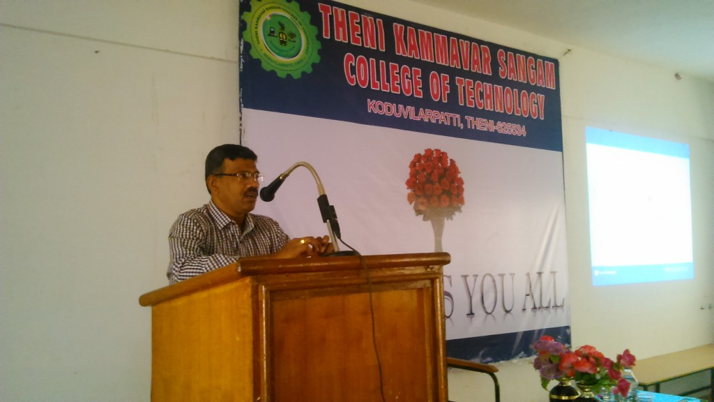 SEMINAR ON SOLPR PV SYSTEM BY Dr.D. DEVARAJ, DEAN-ACADEMIC, KLU ON 11-08-2015