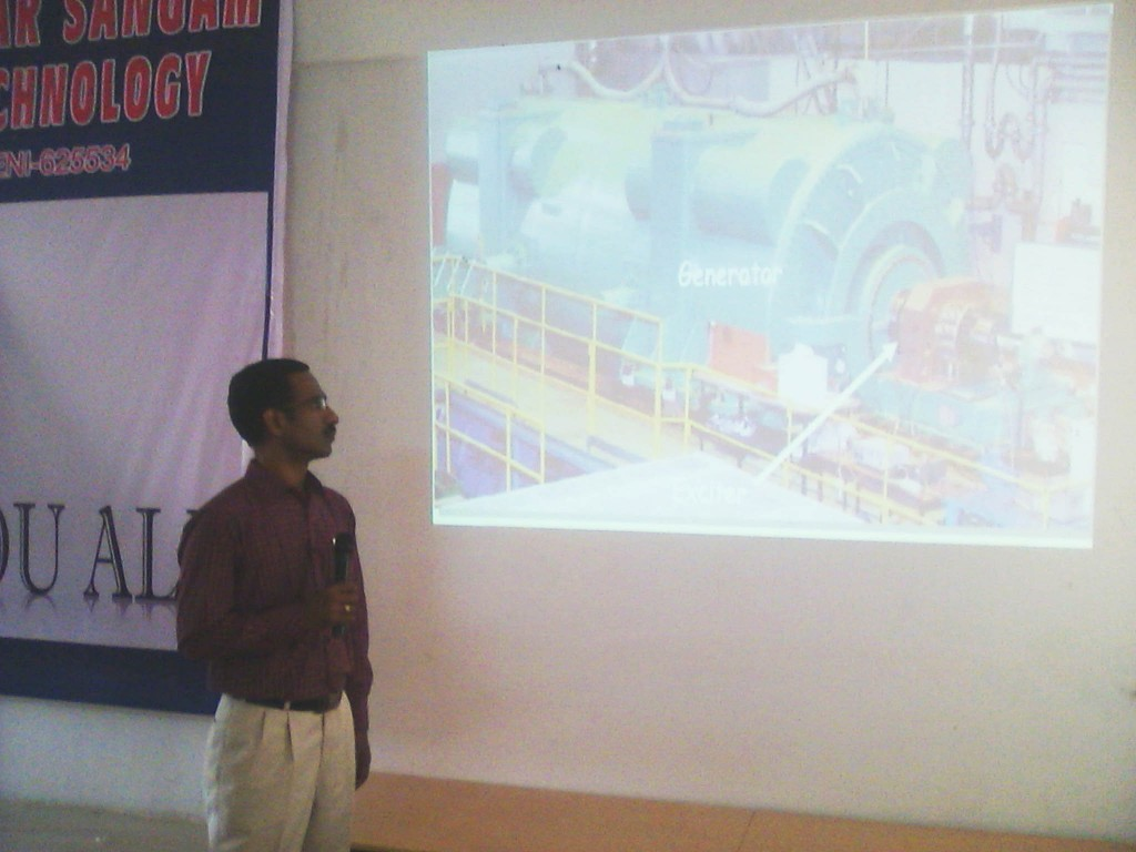 SEMINAR ON ELECTRICAL MACHINES AND ITS APPLICATION BY Mr. PL. SOMASUNDARAM, AP/EEE, MKEC ON 16-07-2015